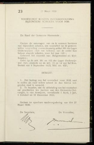 Raadsnotulen Heemstede 1930-03-27