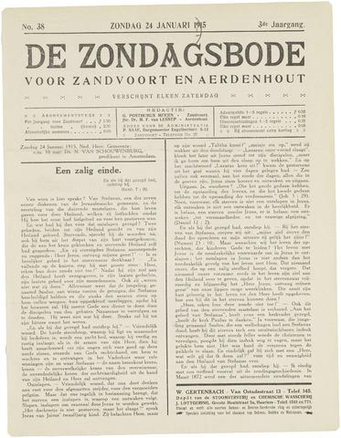 De Zondagsbode voor Zandvoort en Aerdenhout 1915-01-24
