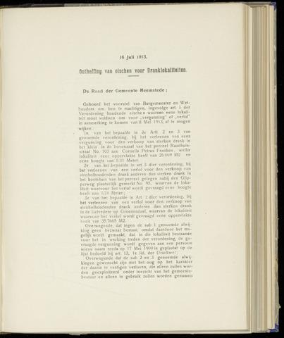 Raadsnotulen Heemstede 1913-07-16