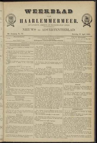 Weekblad van Haarlemmermeer 1885-04-11
