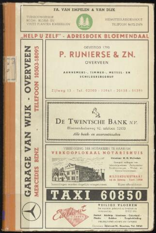 Adresboeken Bloemendaal 1958