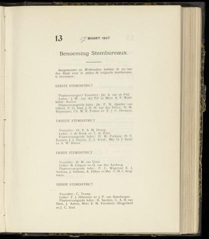 Raadsnotulen Heemstede 1927-03-17