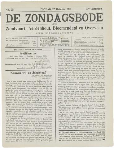De Zondagsbode voor Zandvoort en Aerdenhout 1916-10-22