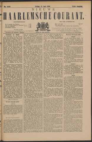 Nieuwe Haarlemsche Courant 1896-06-19