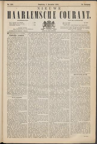 Nieuwe Haarlemsche Courant 1881-12-01