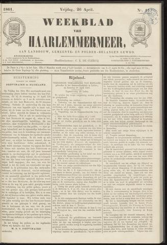 Weekblad van Haarlemmermeer 1861-04-26