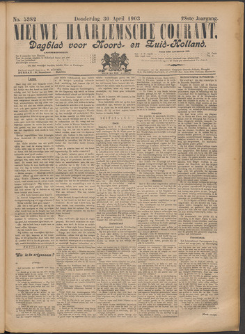 Nieuwe Haarlemsche Courant 1903-04-30