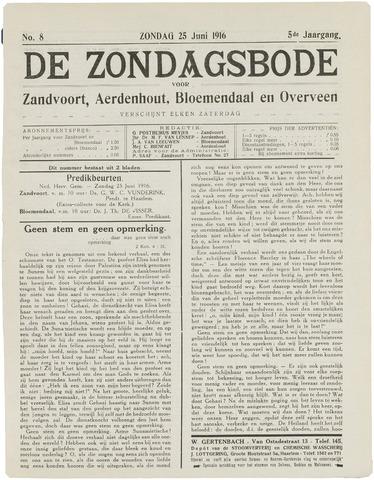 De Zondagsbode voor Zandvoort en Aerdenhout 1916-06-25