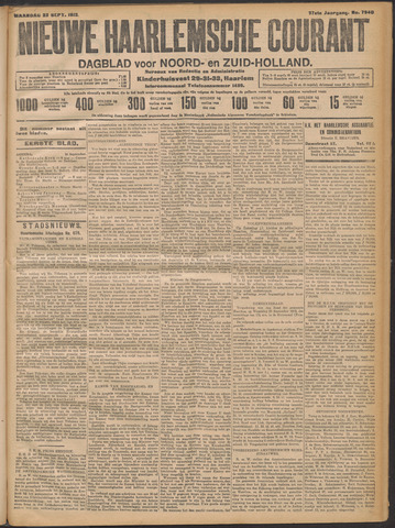 Nieuwe Haarlemsche Courant 1912-09-23