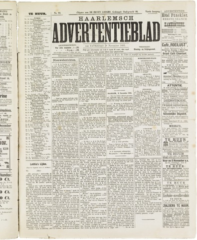 Haarlemsch Advertentieblad 1882-11-18