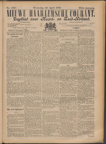 Nieuwe Haarlemsche Courant 1903-04-29