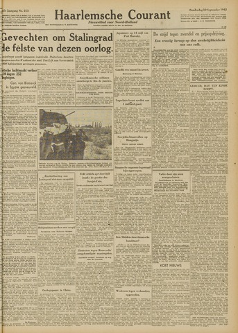 Haarlemsche Courant 1942-09-10