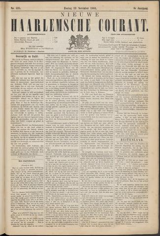 Nieuwe Haarlemsche Courant 1881-11-13