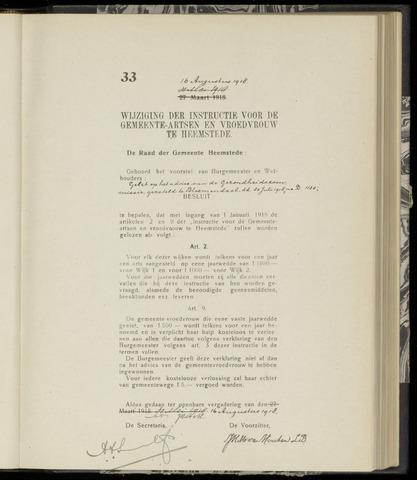 Raadsnotulen Heemstede 1918-08-16