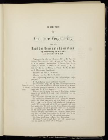 Raadsnotulen Heemstede 1921-05-19