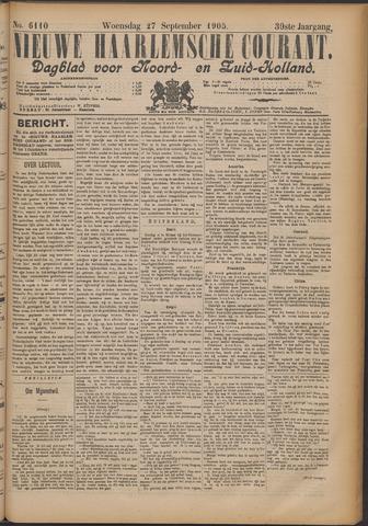 Nieuwe Haarlemsche Courant 1905-09-27