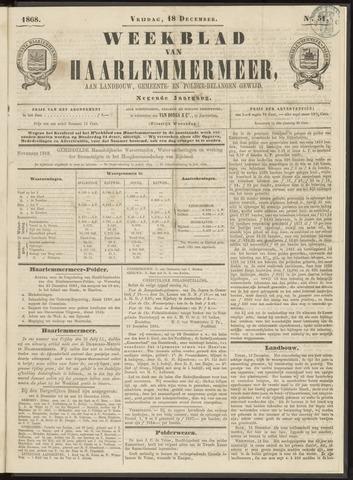 Weekblad van Haarlemmermeer 1868-12-18