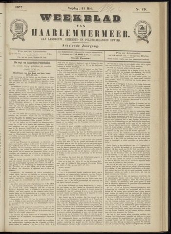 Weekblad van Haarlemmermeer 1877-05-11