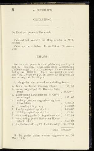 Raadsnotulen Heemstede 1936-02-27