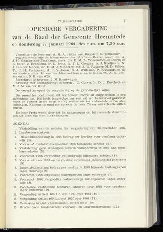 Raadsnotulen Heemstede 1966-01-27
