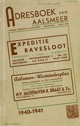 Adresboeken Aalsmeer 1940