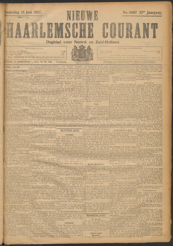 Nieuwe Haarlemsche Courant 1907-06-13