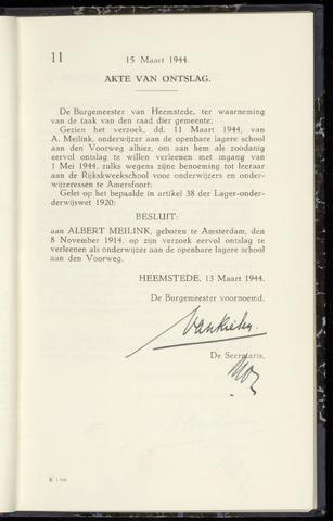 Raadsnotulen Heemstede 1944-03-15