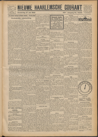 Nieuwe Haarlemsche Courant 1922-07-27