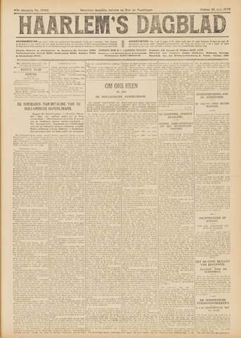 Haarlem's Dagblad 1926-06-25