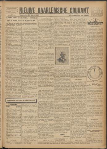 Nieuwe Haarlemsche Courant 1923-04-25
