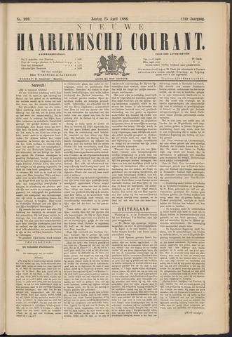 Nieuwe Haarlemsche Courant 1886-04-25
