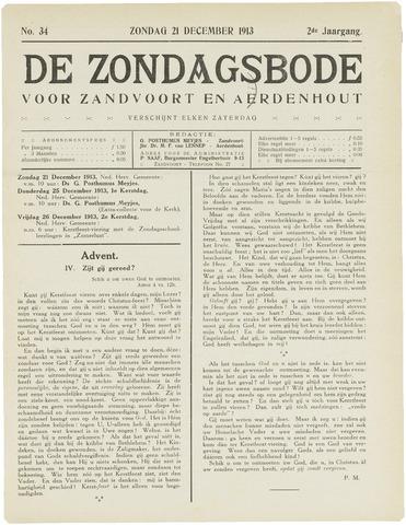 De Zondagsbode voor Zandvoort en Aerdenhout 1913-12-21