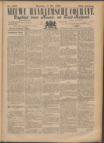 Nieuwe Haarlemsche Courant 1903-05-11