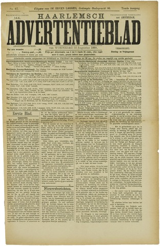 Haarlemsch Advertentieblad 1888-08-22