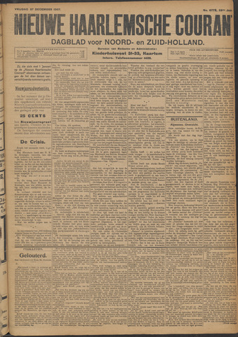 Nieuwe Haarlemsche Courant 1907-12-27