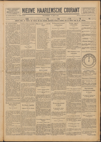 Nieuwe Haarlemsche Courant 1931-07-13