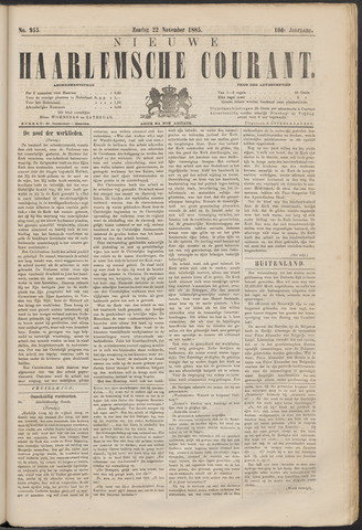 Nieuwe Haarlemsche Courant 1885-11-22