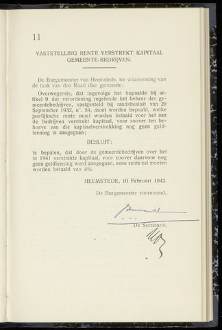 Raadsnotulen Heemstede 1942-02-10