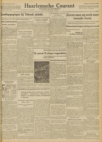 Haarlemsche Courant 1942-09-15