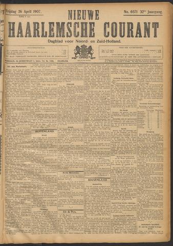 Nieuwe Haarlemsche Courant 1907-04-26