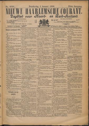 Nieuwe Haarlemsche Courant 1906-01-04