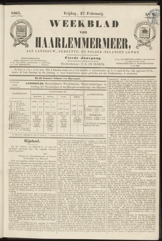 Weekblad van Haarlemmermeer 1863-02-27