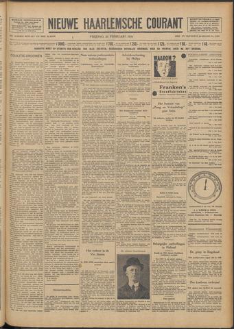 Nieuwe Haarlemsche Courant 1931-02-20