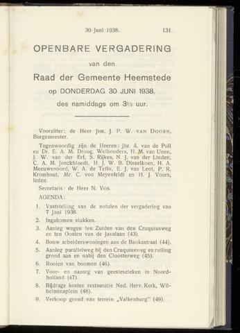 Raadsnotulen Heemstede 1938-06-30