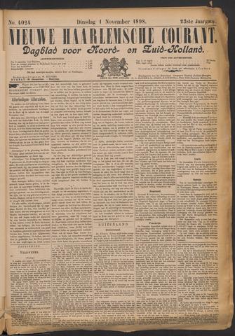 Nieuwe Haarlemsche Courant 1898-11-01