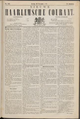 Nieuwe Haarlemsche Courant 1882-11-26