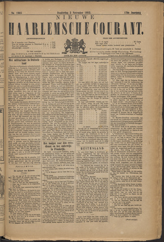 Nieuwe Haarlemsche Courant 1892-11-03