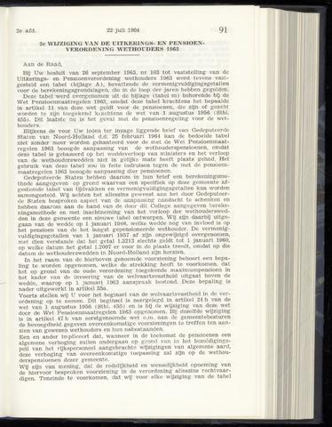Raadsnotulen Heemstede 1964-07-22