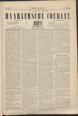 Nieuwe Haarlemsche Courant 1884-04-17