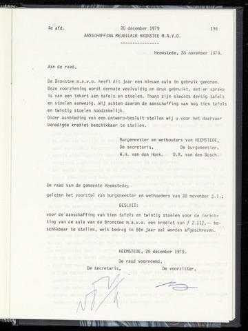 Raadsnotulen Heemstede 1979-12-20